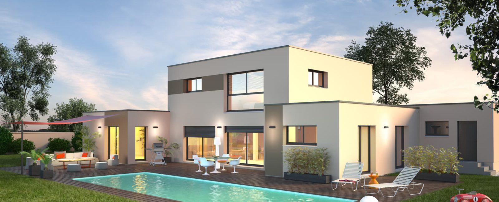 Construction de maison neuve et moderne, Besançon, Doubs, 25